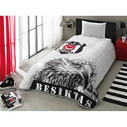 Taç Lisanslı Beşiktaş Siyah Beyaz Yatak Örtüsü