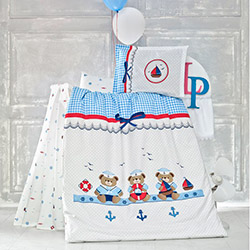 Luoca Patisca Sailor Ranforce Bebek Uyku Seti - Mavi