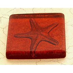 Deniz Yıldızı Kırmızı Simli Banyo Gider Süsü