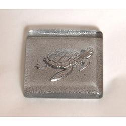 Kaplumbağalı Gümüş Simli Banyo Gider Süsü