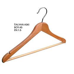 4'lü İtalyan Naturel Hortumlu Elbise Askısı - 2