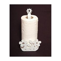 Atadan Çiçek Ferforje Havluluk - Beyaz