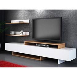 Comfy Home Zenn Tv Ünitesi - Beyaz / Teak