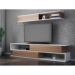 Comfy Home Sims Tv Ünitesi - Beyaz / Teak