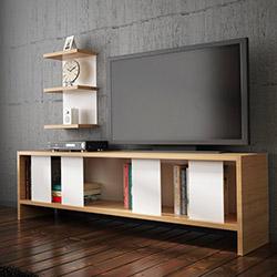 House Line Carmen Tv Ünitesi - Teak / Beyaz
