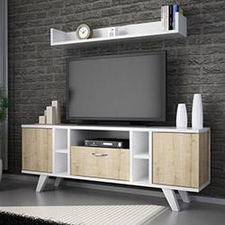 House Line Flat Tv Ünitesi - Safir Meşe