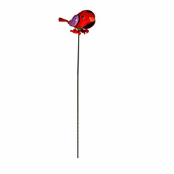 Bosphorus Kuş Model Metal Bahçe Süsü - Kırmızı