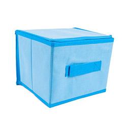 Kumaş Mavi Kutu - Küçük (15x14x14 cm)
