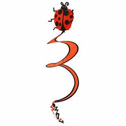 Bosphorus Uğurböceği Model Rüzgargülü - 27x27x75 cm