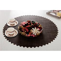 Dinner Design® Wenge Yuvarlak Masa Örtüsü - 60x60 cm