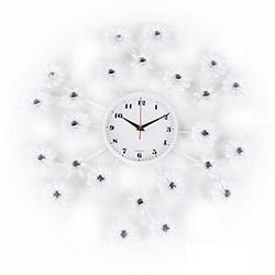 Osaka Papatya Mini Çiçekli Duvar Saati - Beyaz