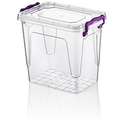 Hobby Life Plastik Dikdörtgen Multi Box 6'lı Saklama Kabı (1,45 Lt.) - Asorti