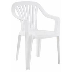 Papatya Tropik Plastik Koltuk - Beyaz