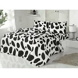 Golden Daisy Ranforce Çift Kişilik Nevresim Takımı - Dalmatian Siyah / Beyaz