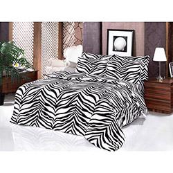 Golden Daisy Ranforce Tek Kişilik Nevresim Takımı - Zebra Siyah / Beyaz