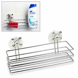 BS Maison Vantuzlu Dikdörtgen Banyo Rafı - Beyaz