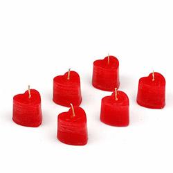 BS Maison 6'lı Kalp Mum (M000037)  - Kırmızı