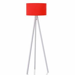 Comfy Home 3 Ayaklı Tripod Lambader - Kırmızı / Beyaz