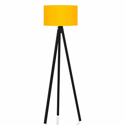 Comfy Home 3 Ayaklı Tripod Lambader - Sarı / Siyah