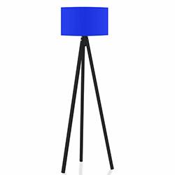 Comfy Home 3 Ayaklı Tripod Lambader - Mavi / Siyah