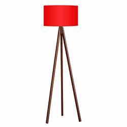 Comfy Home 3 Ayaklı Tripod Lambader - Kırmızı / Kahve