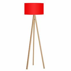 Comfy Home 3 Ayaklı Tripod Lambader - Kırmızı / Naturel