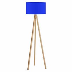 Comfy Home 3 Ayaklı Tripod Lambader - Mavi / Naturel