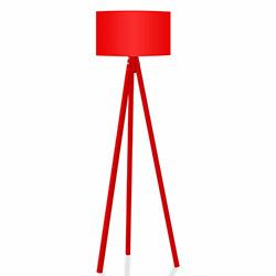 Comfy Home 3 Ayaklı Tripod Lambader - Kırmızı