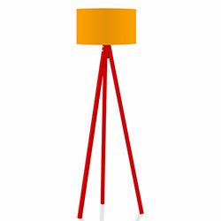 Comfy Home 3 Ayaklı Tripod Lambader - Turuncu / Kırmızı
