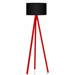 Comfy Home 3 Ayaklı Tripod Lambader - Siyah / Kırmızı