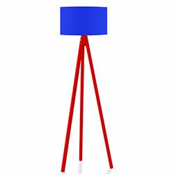 Comfy Home 3 Ayaklı Tripod Lambader - Mavi / Kırmızı
