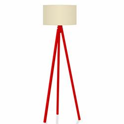 Comfy Home 3 Ayaklı Tripod Lambader - Krem / Kırmızı