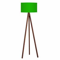 Comfy Home 3 Ayaklı Tripod Lambader - Yeşil / Kahve