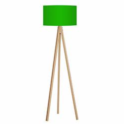 Comfy Home 3 Ayaklı Tripod Lambader - Yeşil / Naturel