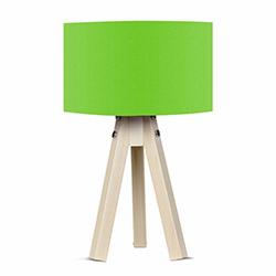 Comfy Home 3 Ayaklı Tripod Abajur - Yeşil / Naturel