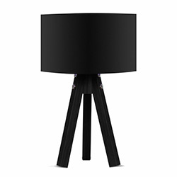 Comfy Home 3 Ayaklı Tripod Abajur - Siyah / Siyah