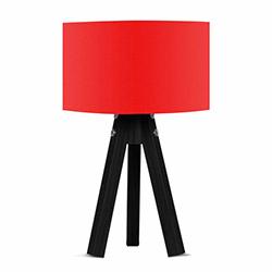 Comfy Home 3 Ayaklı Tripod Abajur - Kırmızı / Siyah