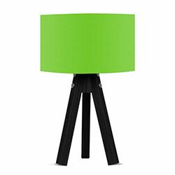 Comfy Home 3 Ayaklı Tripod Abajur - Yeşil / Siyah