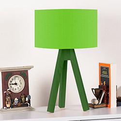 Comfy Home 3 Ayaklı Tripod Abajur - Yeşil / Yeşil