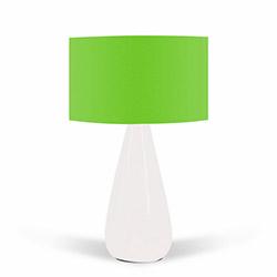 Florence Seramik Abajur - Yeşil / Beyaz