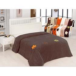 Home Comfort Çınar-C Çift Kişilik Battaniye - Kahve