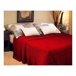 Lavianna Beliz Çift Kişilik Çok Amaçlı Triko Yatak Örtüsü - Kırmızı