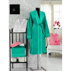 Virginia Secret 8166 S-M Bayan Bornoz - Yeşil (Havlu Hediyeli)