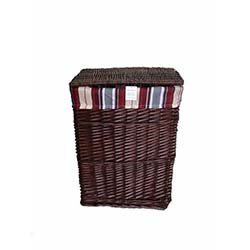 Emek Dikdörtgen Çamaşır Sepeti - Kahverengi