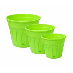Revak 3'lü Saksı - Yeşil
