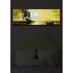 Özgül İçten Aydınlatmalı Canvas Tablo 16 - 30x90 cm