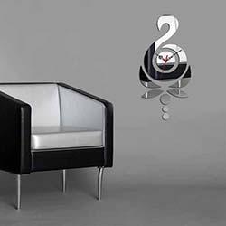 Dekoratif Kırılmaz Ayna Saat - OGAS-3