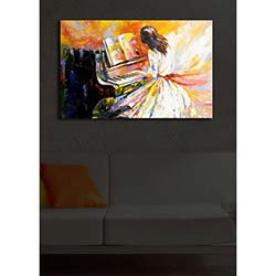 Özgül İçten Aydınlatmalı Canvas Tablo 18 - 45x70 cm