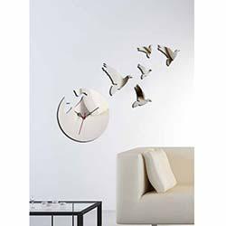 Güvercin Saat Dekoratif Kırılmaz Ayna Saat