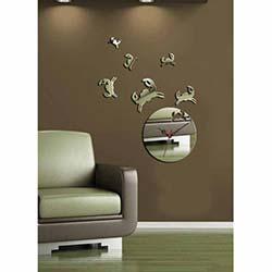 Yengeç Saat Dekoratif Kırılmaz Ayna Saat